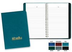 PCA 3150 CLASSIC NOTEBOOK This small notebook has our popular leatherette cover. offered in 6 different colors. Teal Green, Green And Grey, Notebooks, Journals, Small Notebook, Different Colors, Burgundy, Popular, Classic