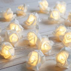 Battery Powered Rose String Lights