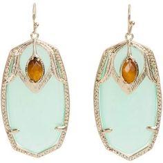 Chaldcedony stone earrings