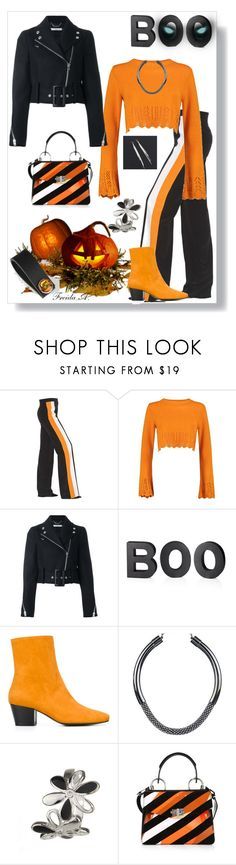 """""""Halloween Luncheon"""" by freida-adams ❤ liked on Polyvore featuring STELLA McCARTNEY, Boohoo, Givenchy, Crate and Barrel, Dorateymur, Proenza Schouler, Halloween, bellastreasure and bellacuff"""