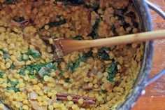 Dal Ra Pulungo- Yellow Dal with Spinach and Burnt Onions | Girl Cooks World