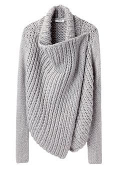 Another great sweater---Helmut Lang / Shawl Cardigan | La Garçonne ... now think in charcoal with leather sleeves...
