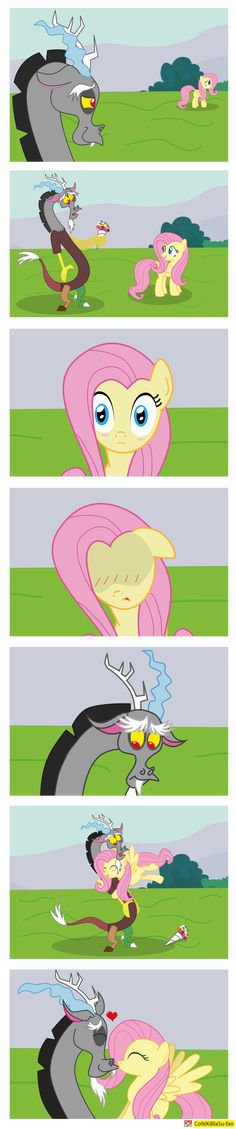 Fluttershy Discord hearts hooves day (fluttercord) by CoNiKiBlaSu-fan.deviantart.com on @DeviantArt