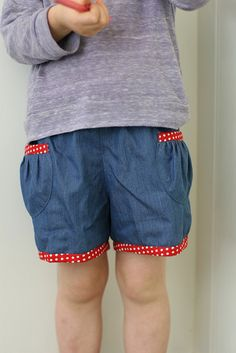 how cute are these little shorts?! oliver + s pattern