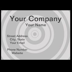 Professional gray circle business cards