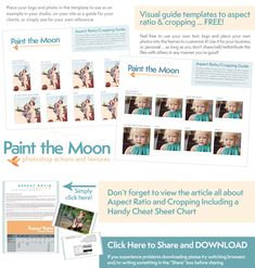 Free Guide Templates to Aspect Ratio and Cropping from Paint the Moon Photoshop Actions