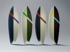 Asymmetric boards created by Chandelier Creative and surf store Saturday Surf NYC Surf Coffee, Surf Store, Chandelier Creative, Saturdays Surf, Wallpaper Magazine, Surfboards, Art Direction, Coffee Shop, Tokyo