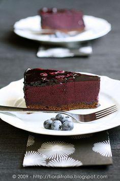 Torta di mirtilli e cioccolato — #recipe #juliesoissons