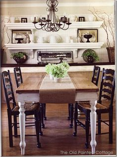 Dining Room Shelf Decorating Ideas Visit Theoldpaintedcottage Blo Ca Farmhouse Table