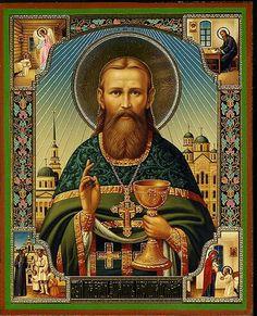 Icon of St. John of Kronstadt St Sebastian, Avatar The Last Airbender Art, Gods Glory, Russian Orthodox, Orthodox Icons, Christian Faith, Christianity, Catholic, Saints