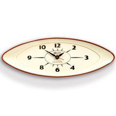 Newgate Bullitt Wall Clock - red bold statement timekeeper