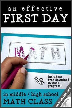 What to do on the first day of math class - Free activities for middle and high . What to do on the first day of math class - Free activities for middle and high school back to school season Math School, Middle School Classroom, Middle School Decor, High School Teachers, School Icebreakers, Classroom Décor, School Notes, First Day Of School Activities, 1st Day Of School