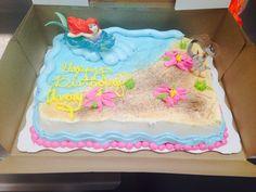 Ariel cake. Walmart cakes. Walmart. Sheet cake
