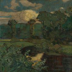 Martin Benka - Krajina so stromami, 1911