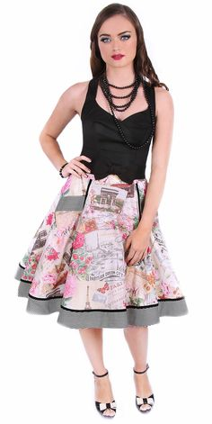 Paris In Spring Swing Skirt
