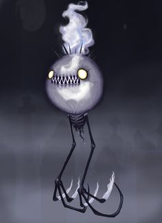 Creepy Chandelure COLORED by ClydeBob on deviantART