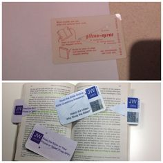Bookmark with paper slot