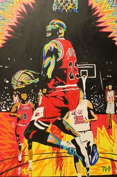 Michael jordan mj 23 the greatest beast goat basketball dunk championship swag rainbow killer instincts best ever painting paint dlo instagram twitter @dl_o