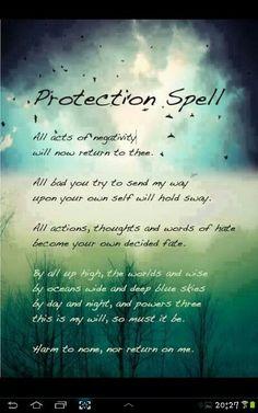 A spell to repel negativity