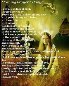Morning Prayer to Freya