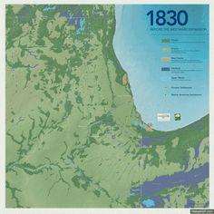 Die Ausbreitung von Chicago (1830 - 2030) - Die Natur hat gegen den Menschen keine Chance