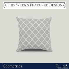 We're featuring Geometrics as our design collection of the week. Are you a geometric-enthusiast? Check out the rest of our patterns collection: http://pillowsanddecor.com/collections/geometrics