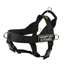 DT Universal No Pull Dog Harness Therapy Dog In Training Black Medium Fits Girth Size 26Inch to 32Inch -- You can find out more details at the link of the image.