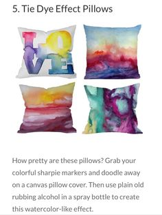 cool pillow case idea! love it!