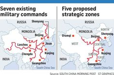 """China Military Reform: Five new nationwide """"battle zones"""" established"""