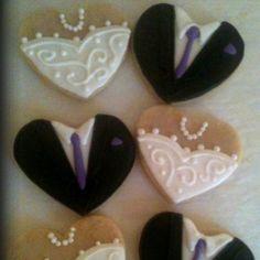 Wedding shower cookies!    www.facebook.com/mysweetshack