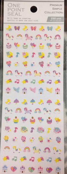 Kawaii Japan Sticker sheet Assort: One Point Seal by mautio