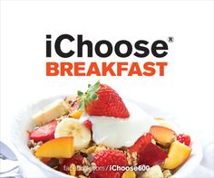 Make time for healthier, lower-calorie breakfasts this summer. #breakfast www.facebook.com/ichoose600