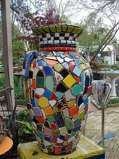 wip urn w/checkerboard top | Flickr - Photo Sharing!