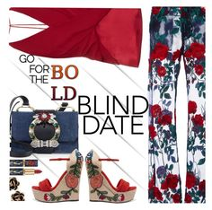 """Dress to Impress:  Blind Date"" by juliehooper ❤ liked on Polyvore featuring Adam Selman, Dion Lee, Miu Miu, Gucci and Chantecler"