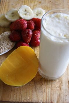 Breakfast Smoothies Yummy Smoothies, Breakfast Smoothies, Juice Smoothie, Smoothie Drinks, Yummy Drinks, Smoothie Recipes, Healthy Drinks, Breakfast Recipes, Healthy Snacks