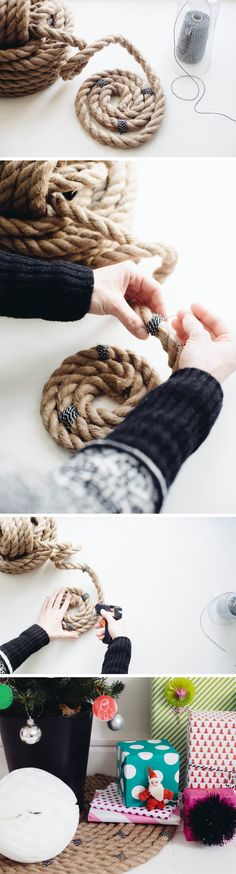 Make it! - Patterned Rope Tree Skirt