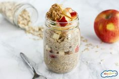 Simple, healthy, and delicious, these Apple Cinnamon Overnight Oats are your new favorite breakfast! They're gluten-free & great for busy mornings. Oh, overnight oats! The simplest breakfast there ever was. I mean, what's better than waking up to breakfast already completely done? I can't think of anything else! I love to mix up my overnight