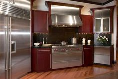 Custom Innovation Stainless Kitchen Design with Cabinet - Artistic Home Decor Stainless Kitchen Design, Stainless Steel Kitchen Appliances, Wolf Appliances, Kitchen Appliance Packages, Outdoor Kitchen Design, Kitchen Cabinets, Farmhouse Cabinets, Grey Cabinets, Kitchen Island
