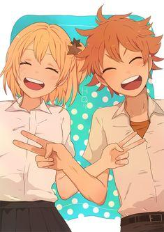 Yachi Hitoka & Hinata Shouyou - Haikyuu!! / HQ!!