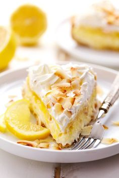 No Bake Lemon Macaroon Cheesecake is a coconut filled cheesecake on top of a golden oreo crust.