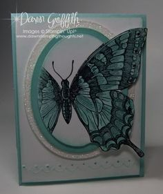 Swallowtail card out of the box technique and video, dawn's stamping thoughts