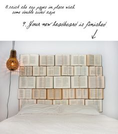 DIY : book headboard in paper diy  with home headboard Book Bed