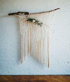 Handwoven wedding backdrop