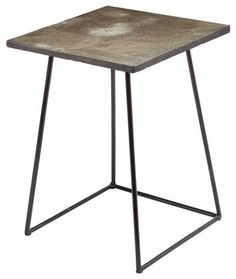Lazy Susan Linear Concrete Accent Table, Tall industrial-side-tables-and-end-tables