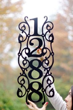 verticle house numbers | Vertical Vine Modern House Numbers. Address Sign.