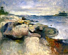 Beach, Edvard Munch - 1888