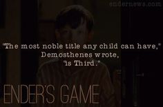 Ender's Game - Orson Scott Card ~ so looking forward to this movie!