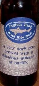 dogfish head world wide stout Dogfish Head, Dark Beer, Beer Brewing, Delaware, Brewery, Food, Essen, Meals, Yemek