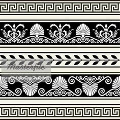 Decorative vector ornaments, antique greek borders, full scalable vector graphic included Eps v8 and 300 dpi JPG.