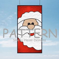 Santa Claus PATTERN for Stained Glass or Mosaic by ShellyHeissDesigns on Etsy